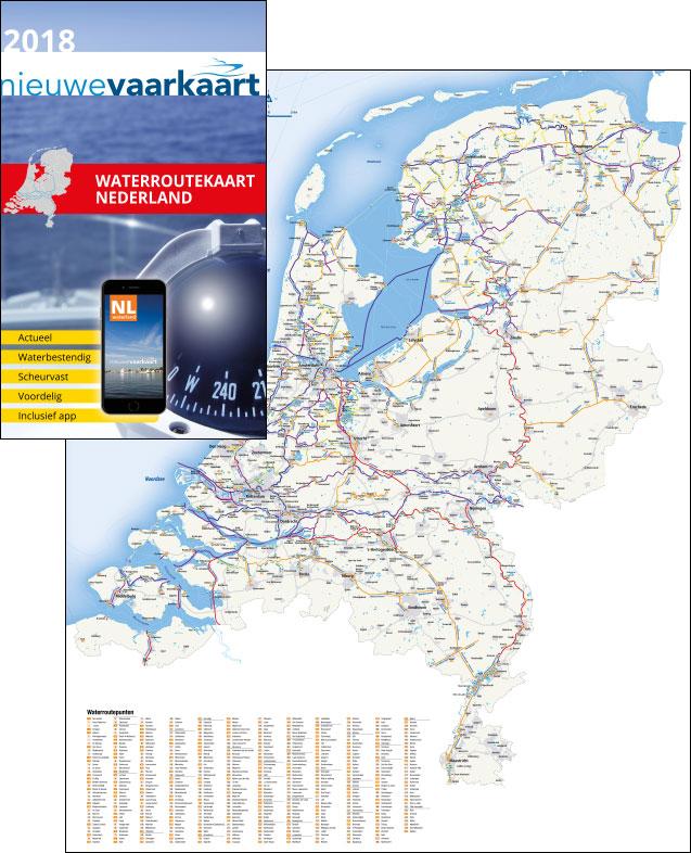 Nieuwe vaarkaart waterkaart; waterroutekaart Nederland incl. mobiele vaar app.]