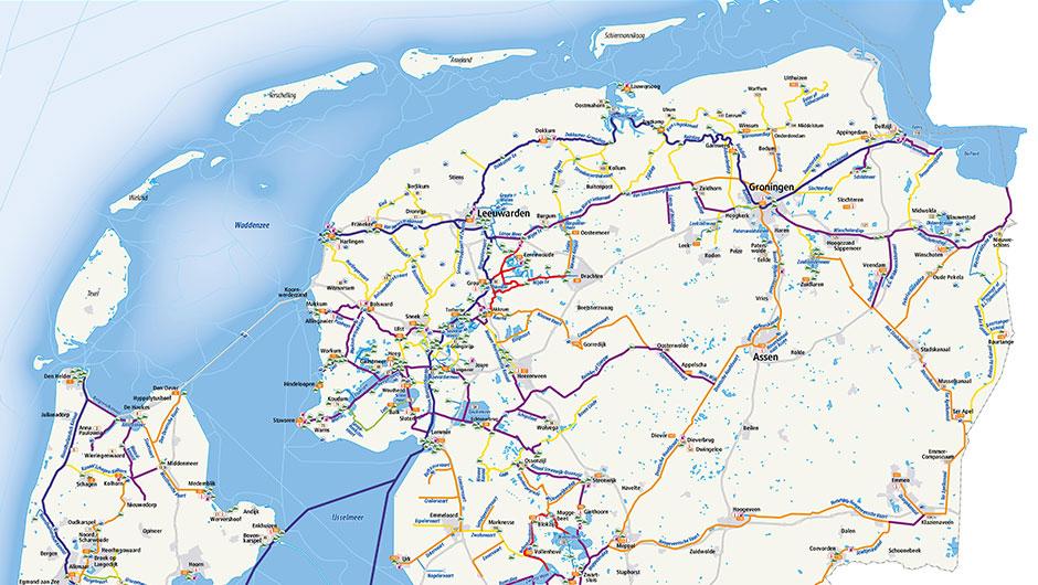 Nieuwe vaarkaart waterkaart; waterroutekaart Nederland incl. mobiele vaar app