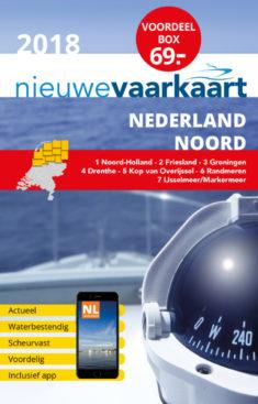 Nieuwe vaarkaart waterkaart; Voordeelbox Nederland Noord incl. mobiele vaar app