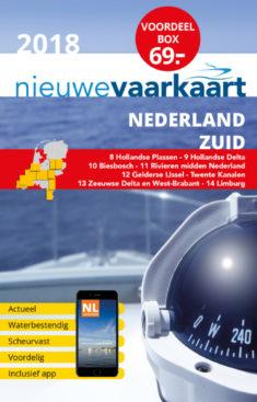 Nieuwe vaarkaart waterkaart; Voordeelbox Nederland Zuid incl. mobiele vaar app