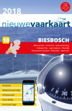 Nieuwe vaarkaart waterkaart; Biesbosch incl. mobiele vaar app