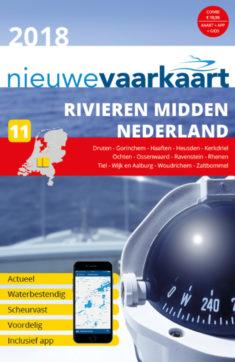 Nieuwe vaarkaart waterkaart; Rivieren midden Nederland incl. mobiele vaar app