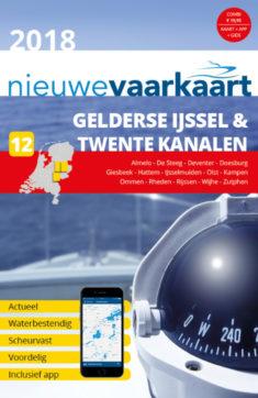 Nieuwe vaarkaart waterkaart; Gelderse IJssel en Twente Kanalen incl. mobiele vaar app