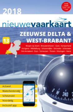 Nieuwe vaarkaart waterkaart; Zeeuwse Delta & West-Brabant incl. mobiele vaar app