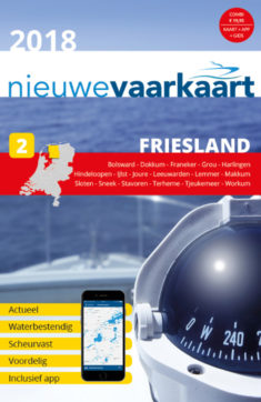 Nieuwe vaarkaart waterkaart; Friesland incl. mobiele vaar app