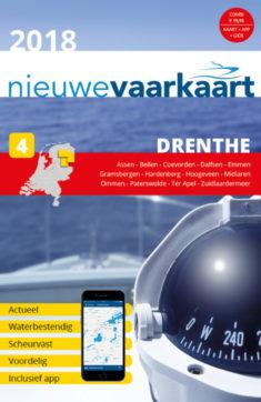 Nieuwe vaarkaart waterkaart; Drenthe incl. mobiele vaar app