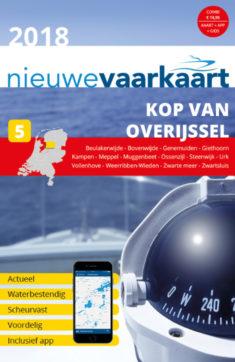 Nieuwe vaarkaart waterkaart; Kop van Overijssel incl. mobiele vaar app