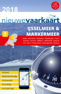 Nieuwe vaarkaart waterkaart; IJsselmeer & Markemeer incl. mobiele vaar app