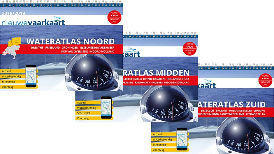 Nieuwe vaarkaart waterkaart; wateratlassen incl. mobiele vaar app